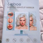 【Liaboe LED三面鏡】省スペースに化粧鏡!ドレッサーが無くても大丈夫。