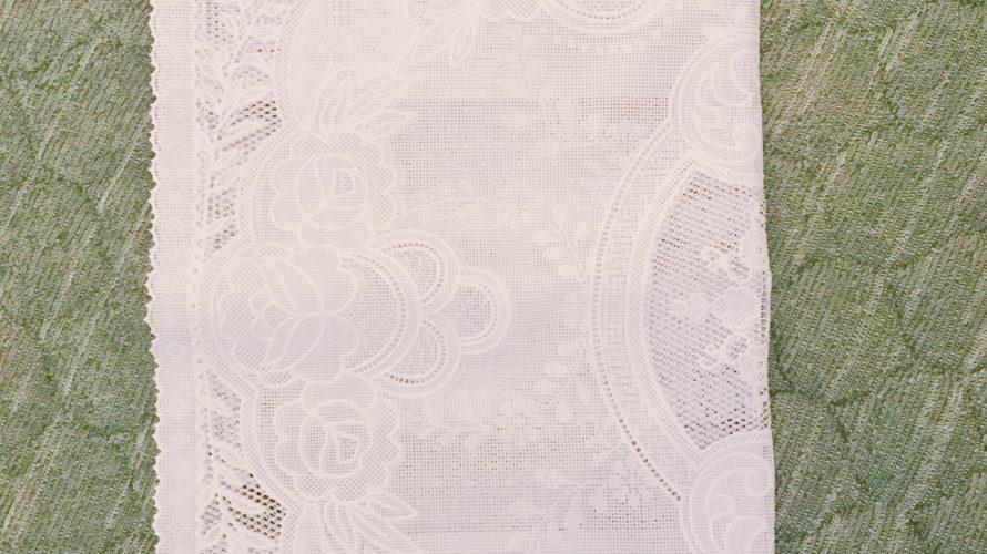 100均ダイソー購入品『テーブルセンター白』レース柄で可愛い!