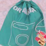 100均 ダイソー購入品 ジムウェアとシューズを入れている『ランドリー用巾着袋』『イラストきんちゃくバッグ』